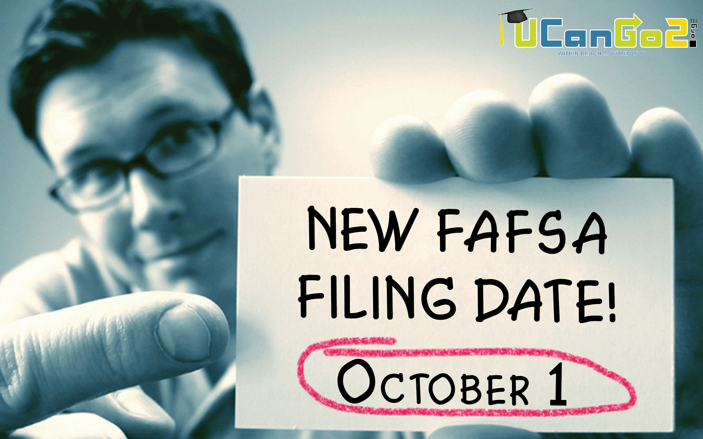 The new FAFSA filing date is October 1. Learn more at Start With FAFSA dot org.